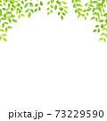 水彩風な新緑のアーチフレーム スクエア 73229590