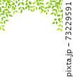 水彩風な新緑のアーチフレーム 縦 73229591