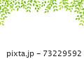 水彩風な新緑のアーチフレーム 73229592