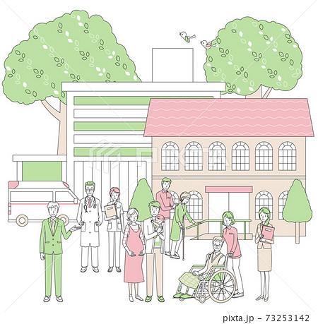 介護と病院関係の人々 73253142