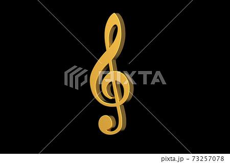 金色のト音記号の3Dイラスト 73257078