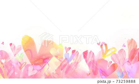 手描き風のハートの背景 - バレンタイン 誕生日など - 複数のバリエーションがあります 73259888
