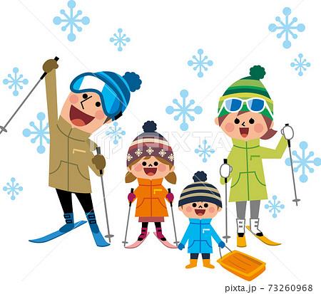 家族でスキー 73260968
