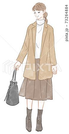 鞄を持った女性 73264884