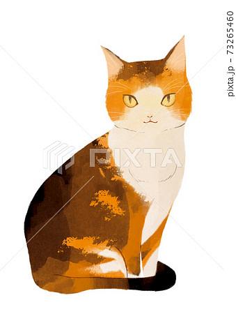 お座りしている猫 73265460