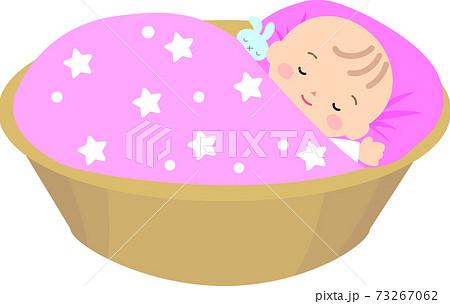 眠る女の赤ちゃん 73267062