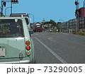 交通渋滞の国道(交差点付近) 73290005
