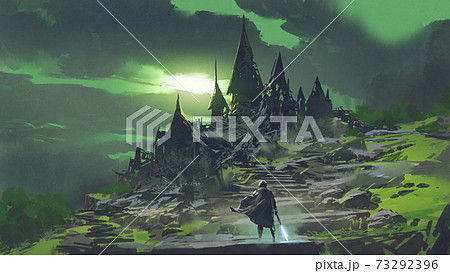 the mysterious abandoned castle 73292396