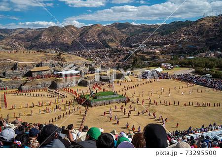 南米ペルーのクスコで行われる太陽の祭りインティライミ祭インティライミ, クスコ, ペルー, インカ, 73295500
