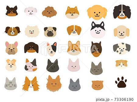 様々な犬種・猫種イラストセット 73306190