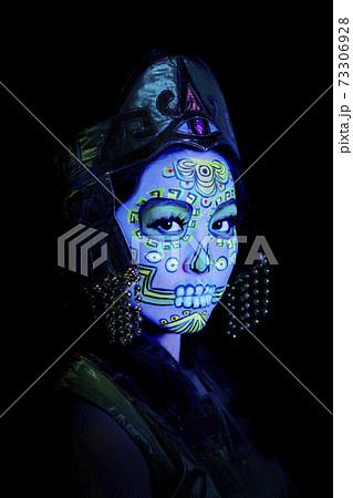Sugar skull or Catrina makeup - portrait photo 73306928