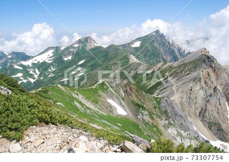 乗鞍岳から白馬岳に向かう途中の景色 73307754
