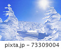 山形蔵王の樹氷と青空 山形県山形市 73309004