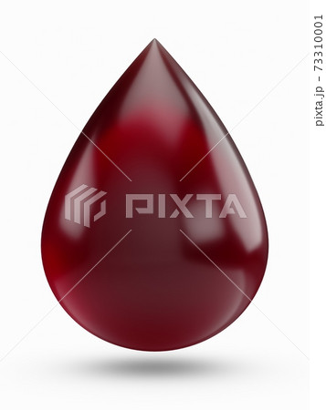 3D Rendering Blood Drop isolated on white background 73310001