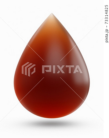 3D rendering Cola drop isolated on white background 73314825
