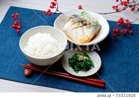 和食の定番「サバ(さば、鯖)の味噌煮」。 73321920