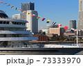 客船飛鳥と富士山を望む横浜港 みなとみらい 横浜市 神奈川県 73333970