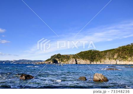 恵比須島から望む南伊豆・相模灘の冬景色 73348236