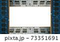 デスクトップパソコン用増設メモリで囲んだフレーム。白のコピースペース。8Kサイズ。 73351691