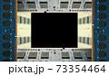デスクトップパソコン用増設メモリで囲んだフレーム。黒のコピースペース。8Kサイズ。 73354464