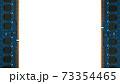 左右にデスクトップパソコン用増設メモリを置いた白のコピースペース。8Kサイズ。 73354465