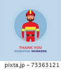 Fireman thanks essential workers 73363121