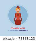 stewardess thanks essential workers 73363123