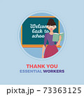 Teacher thanks essential workers 73363125