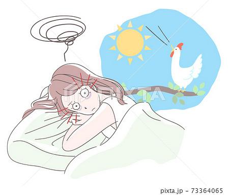 眠れない女性 73364065