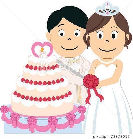 ウェディングケーキのイラスト 73373012