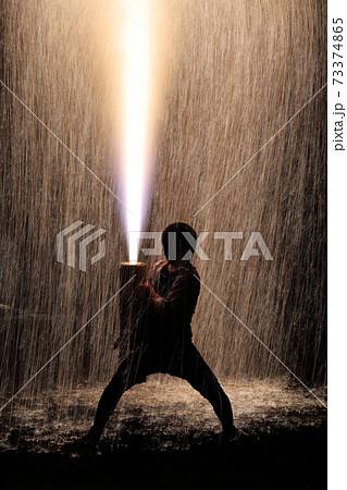大迫力の手筒花火(愛知県豊橋市) 73374865