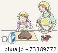 チョコレートケーキ手作り 73389772
