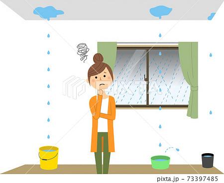 雨漏り 大雨 73397485