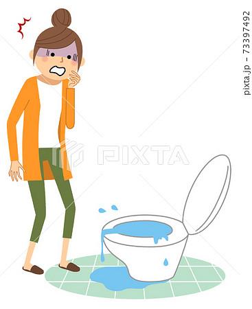 トイレの水漏れ つまり 73397492