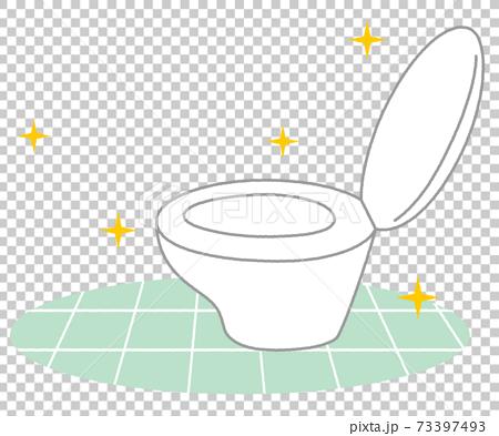 清潔馬桶有光澤 73397493