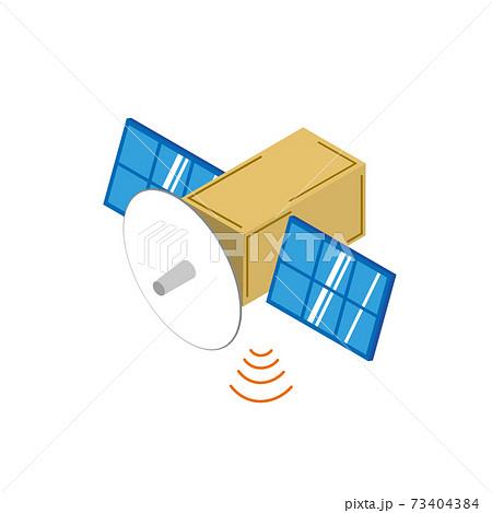 通信する人工衛星 73404384