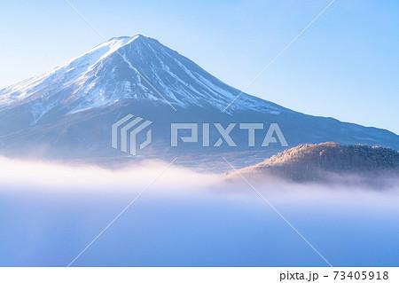 《山梨県》富士山と大雲海 73405918