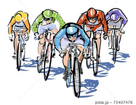 競輪-自転車レース 73407476