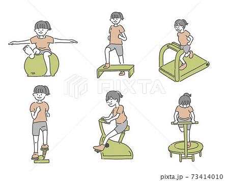 自宅フィットネスで健康な体づくり 73414010