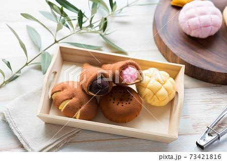 フェルトで作った菓子パン 73421816