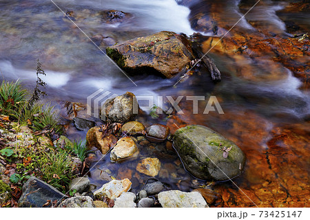 秋の渓流 73425147