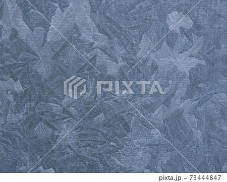 氷の結晶みたいなメタル表面。ブルーグレー。背景 73444847