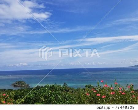 石垣島玉取崎展望台から見るフィリピン海 73449308