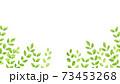 水彩風な新緑の下フレーム 73453268