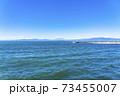 【神奈川県】江ノ島から見た雲のかかる富士山 73455007