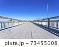 【神奈川県】真っ直ぐ伸びる江の島大橋 73455008