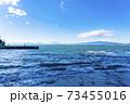 【神奈川県】江ノ島から見た雲のかかる富士山 73455016