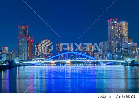 竹芝ふ頭から見た隅田川方向の夜景 73456931