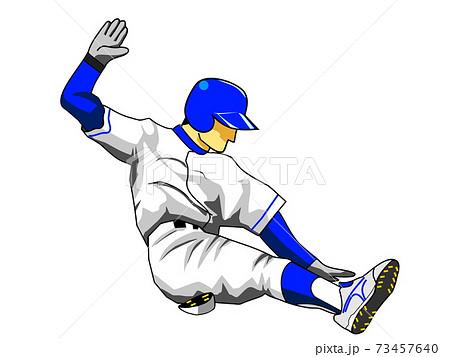 野球ランナースライディング 73457640