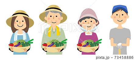 農家の人々 働く人 73458886